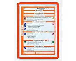 Durable Klarsichttafel mit Profilrahmen - für DIN A4, VE 10 Stk - orange, ab 3 VE
