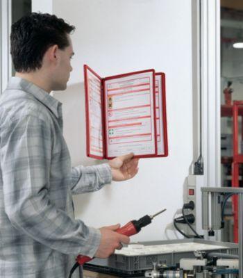 Durable Wandhalter-Komplett-Set - mit 5 Klarsichttafeln DIN A4, VE 2 Stk