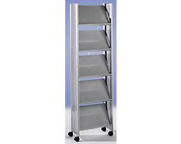 Design-Prospektständer - für 10 x DIN A4 - silber / silber