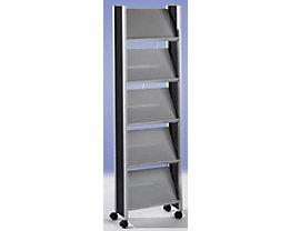 Design-Prospektständer - für 10 x DIN A4 - silber / schwarz