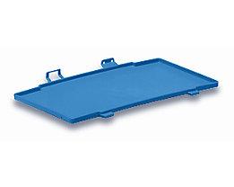 utz Kunststoffdeckel C-KLT aus Polypropylen - lichtblau, VE 2 Stk - LxB 300 x 200 mm
