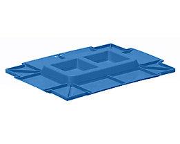 utz Kunststoffdeckel C-KLT aus Polypropylen - lichtblau, VE 2 Stk - LxB 400 x 300 mm