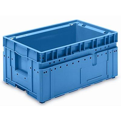 utz Kleinladungsträger C-KLT - Inhalt ca. 43 l, Außen-LxBxH 600 x 400 x 280 mm - lichtblau, VE 3 Stk