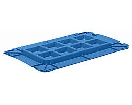 utz Kunststoffdeckel C-KLT aus Polypropylen - lichtblau, VE 2 Stk - LxB 600 x 400 mm