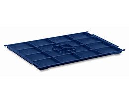 utz Kunststoffdeckel R-KLT aus Polypropylen - saphirblau, VE 2 Stk - LxB 400 x 300 mm