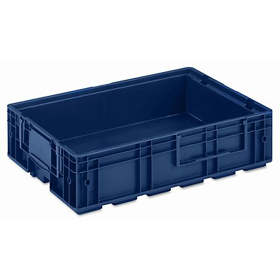 utz Kleinladungsträger R-KLT - Inhalt ca. 22 l, Außen-LxBxH 600 x 400 x 147 mm - saphirblau, VE 4 Stk