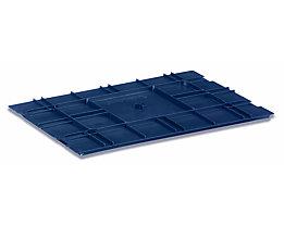 utz Kunststoffdeckel R-KLT aus Polypropylen - saphirblau, VE 2 Stk - LxB 600 x 400 mm