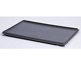 utz Auflagedeckel - dunkelgrau, VE 2 Stk - LxB 600 x 400 mm