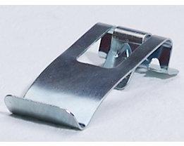 Etikettenhalter zum Aufstecken - Breite 30 mm, VE 10 Stk - verzinkt