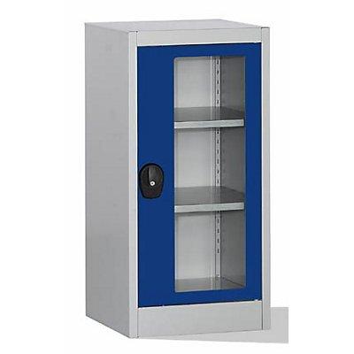 Mauser Sichtfensterschrank - mit 2 Fachböden, HxBxT 1016 x 500 x 500 mm
