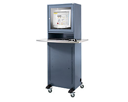 QUIPO Armoire pour ordinateur - avec plateau en mélaminé