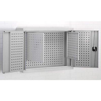Hänge-Werkzeugschrank - Türinnenseite aus Lochplatten mit 2 Zusatzplatten