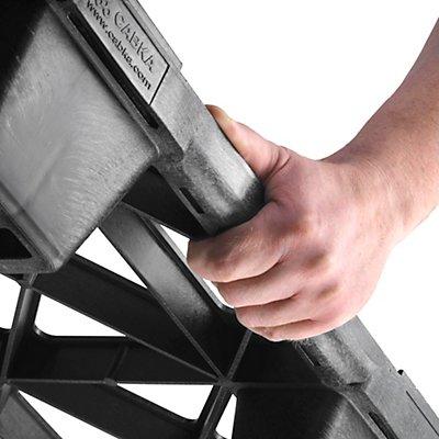 CABKA Halbpalette aus Kunststoff - LxB 600 x 800 mm, Traglast statisch 2500 kg