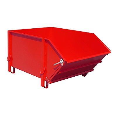 Stahlblechbehälter - Volumen 1 m³, mit klappbarer Schüttklappe
