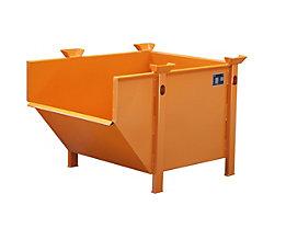 Stahlblechbehälter - Volumen 0,5 m³, ohne klappbare Schüttklappe
