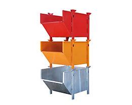 Stahlblechbehälter - Volumen 1 m³, ohne klappbare Schüttklappe
