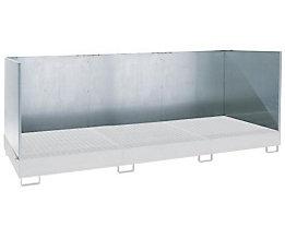 Spritzschutzwand - 3-seitig, aus 1,5 mm verzinktem Blech, Höhe 1000 mm
