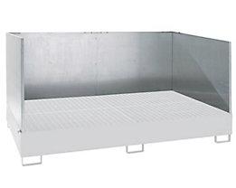 Spritzschutzwand - für Auffangwanne LxB 2690 x 1650 mm, 3-seitig
