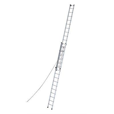 Anlegeleiter höhenverstellbar - Seilzugleiter, 2-teilig
