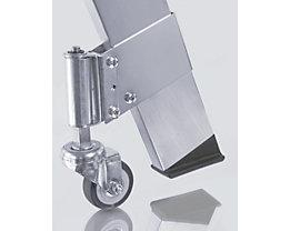 Fahrsatz für Alu-Treppe - 4 Feder-Bremsrollen, Rad-Ø 50 mm - Satz