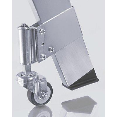 WAKÜ Fahrsatz für Alu-Treppe - 4 Feder-Bremsrollen, Rad-Ø 50 mm - Satz