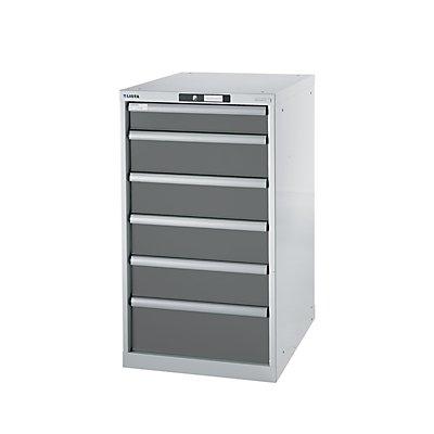 Lista Werkbank-Baukastensystem, Unterbauschrank - Höhe 1000 mm, 6 Schubladen