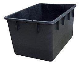 Stapelbehälter aus Polyethylen, konische Bauform - Inhalt 220 l - schwarz