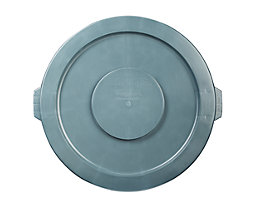 Kunststoffdeckel - mit Schnappverschluss, stapelbar - für 121-l Tonne, grau