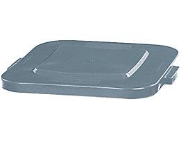 Deckel, quadratisch - Schnappverschluss, für 105-l-Behälter - grau