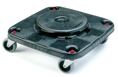 Fahrgestell - 4 Lenkrollen, Bajonettverschluss - PE/Metall, grau