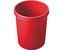 helit Kunststoff-Papierkorb - Inhalt 45 l, Höhe 480 mm, VE 2 Stk - rot, VE 2 Stk
