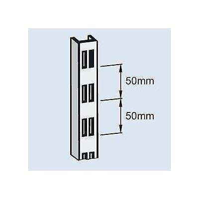 Wandregal-Lochschiene - Stahl, kunststoffbeschichtet