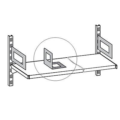 hofe Bücherstütze - Stahlblech - lichtgrau