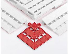 Eckelement - LxB 112 x 112 mm, VE 4 Stück - rot