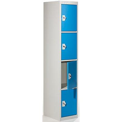 QUIPO Schließfachschrank mit 4 Einzelschließfächern - HxBxT 1800 x 300 x 500 mm