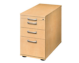 office akktiv ANNY Standcontainer - 1 Utensilienschub, 2 Materialschübe, 1 Registratur - Ahorn-Dekor