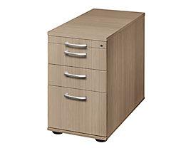 office akktiv ANNY Standcontainer - 1 Utensilienschub, 2 Materialschübe, 1 Registratur - Nussbaum-Dekor