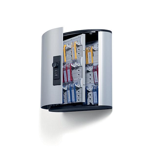 Durable Design-Schlüsselkasten - mit Zahlenkombinationsschloss - HxBxT 280 x 300 x 118 mm  36 Haken
