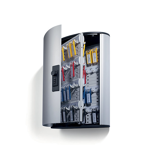 Durable Design-Schlüsselkasten - mit Zahlenkombinationsschloss - HxBxT 400 x 300 x 118 mm  72 Haken