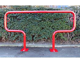 Fahrradanlehnbügel, 850 mm über Flur - zum Aufdübeln, farbig beschichtet - T-förmig, Länge 1500 mm