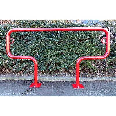 Melzer Metallbau Fahrradanlehnbügel, 850 mm über Flur - zum Aufdübeln, farbig beschichtet
