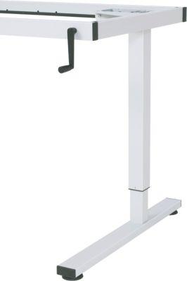 RAU Werkbank, höhenverstellbar - Handkurbel-Höhenverstellung