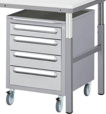 RAU Arbeitsplatz-System, Tisch-Unterbau - Schubladen-Fahrschrank