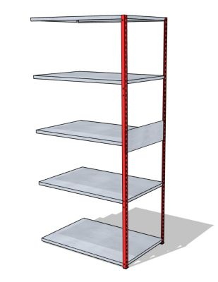 Universal-Steckregal - Breite x Tiefe 930 x 600 mm
