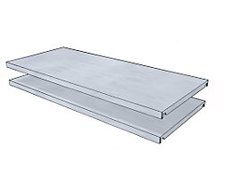 Fachboden für Universal-Steckregal - BxT 930 x 400 mm - VE 2 Stk