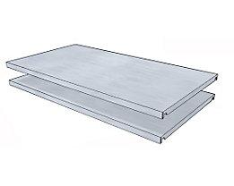 steelo Fachboden für Universal-Steckregal - BxT 930 x 500 mm - VE 2 Stk