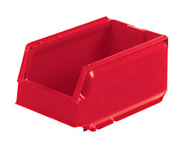 Sichtlagerkasten aus Polypropylen - LxBxH 250 x 148 x 130 mm, VE 32 Stück - rot