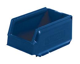 Sichtlagerkasten aus Polypropylen - LxBxH 250 x 148 x 130 mm, VE 32 Stück - blau