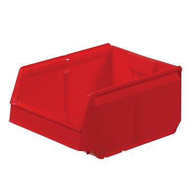 Sichtlagerkasten aus Polypropylen - LxBxH 300 x 230 x 150 mm, VE 12 Stück