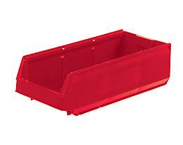 Sichtlagerkasten aus Polypropylen - LxBxH 500 x 230 x 150 mm, VE 15 Stück - rot